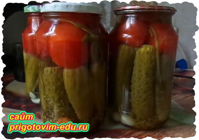 Консервированные помидоры с огурцами на зиму