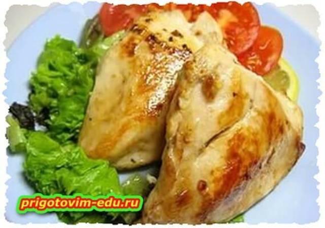Куриная грудка фаршированная колбасой