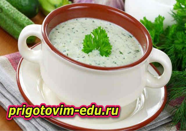 Молочный холодный суп