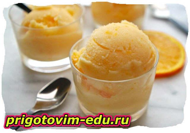Персиковое мороженое в домашних условиях