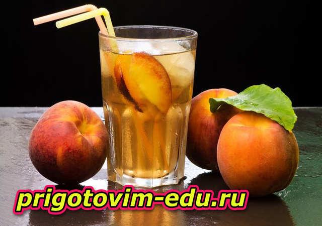 Простой и вкусный персиковый чай