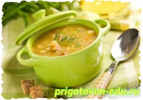 Суп вегетарианский с яйцом и рисом