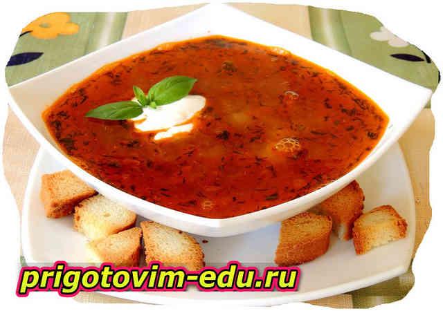 Томатный суп с персиками