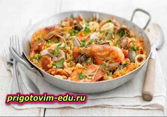 Быстрая паэлья с морепродуктами