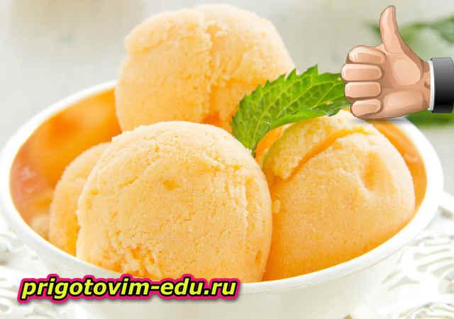 Быстрое мороженое из манго