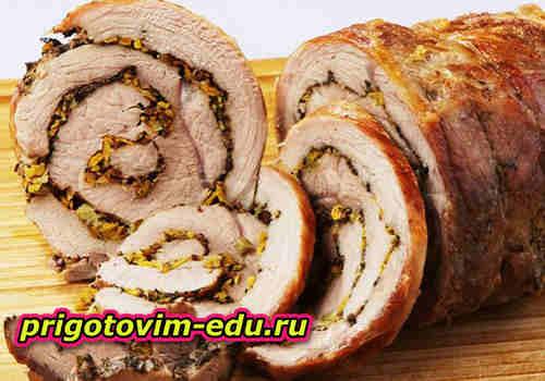 Чешский мясной рулет