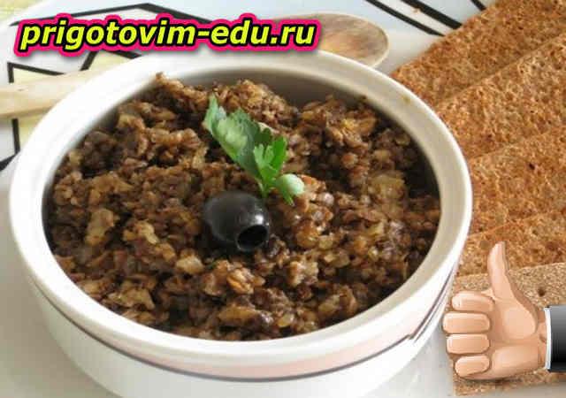 Грибная закуска с капустой