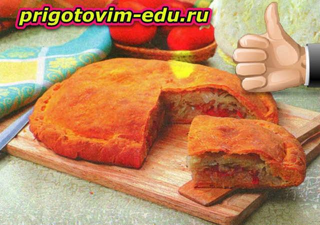 Овощной пирог с капустой и картошкой