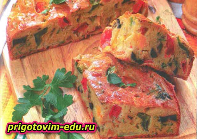 Овощной пирог с сыром пармезан