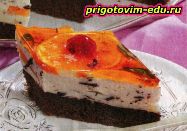 Пирожные с йогуртовым кремом
