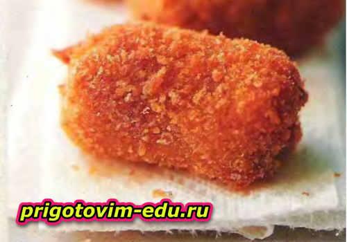 Рисовые крокеты с грибами и сыром
