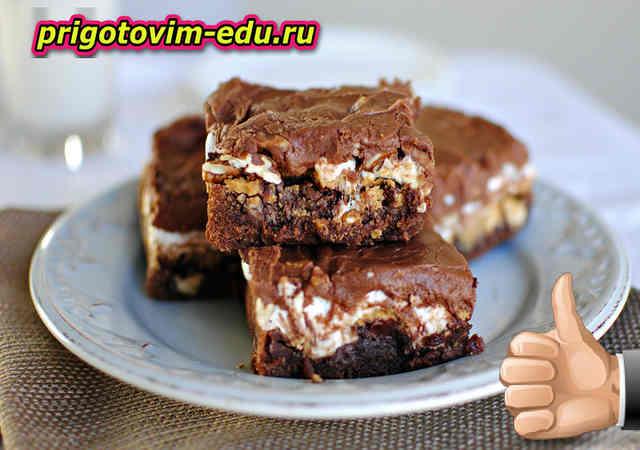 Шоколадные пирожные на арахисовом масле