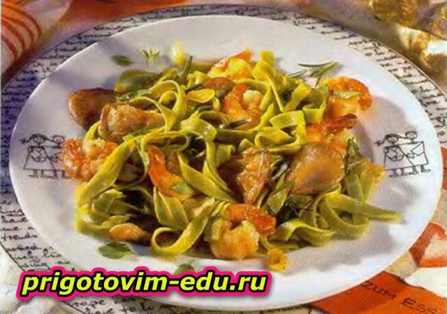 Салат с грибами и креветками «Фантазия»