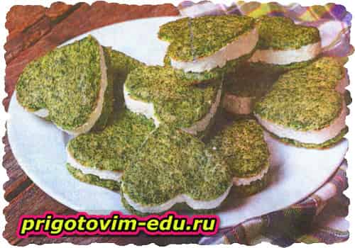 Сердечки шпинатные с сыром