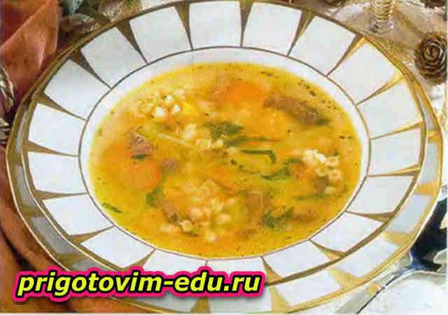 Суп с ракушками из цыпленка