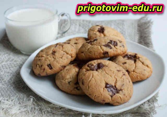 Сырное печенье с шоколадом