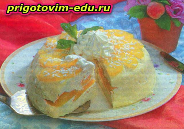 Сырный чизкейк с абрикосами