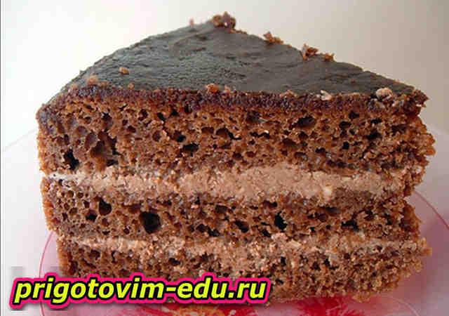 Торт Прага со сметанным кремом