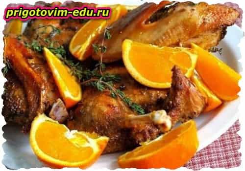Утиные ножки в апельсинах рецепт