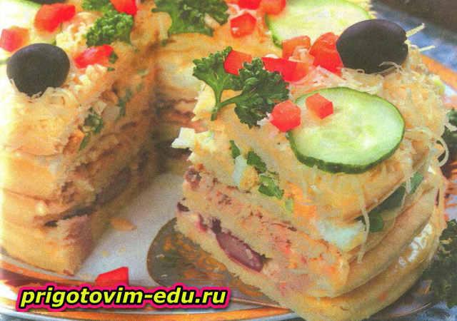 Закусочный торт «Фантазия»