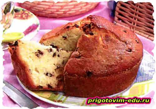 Английский кекс с изюмом и орехами