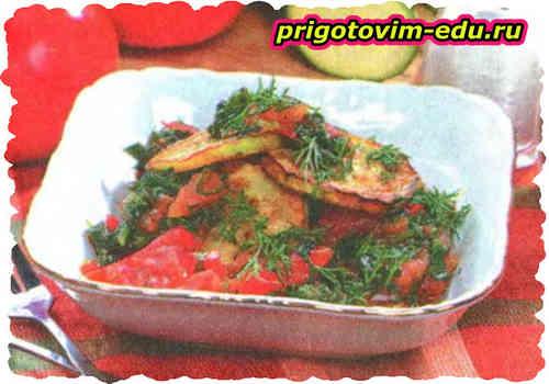 Кабачки в овощном соусе
