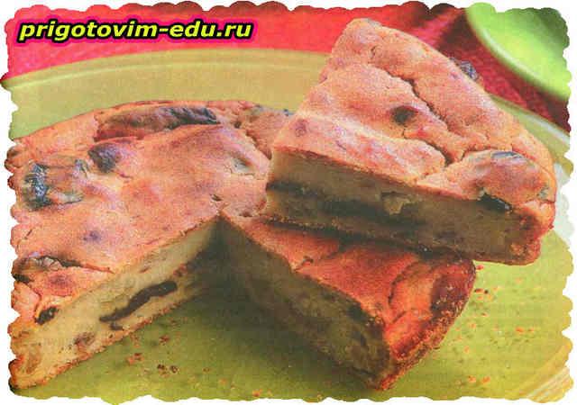 Картофельный пирог с сухофруктами в аэрогриле