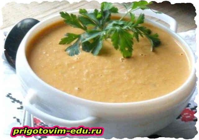 Крем-суп из баклажанов с сыром