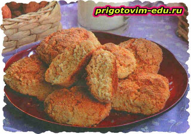 Ореховое печенье в аэрогриле