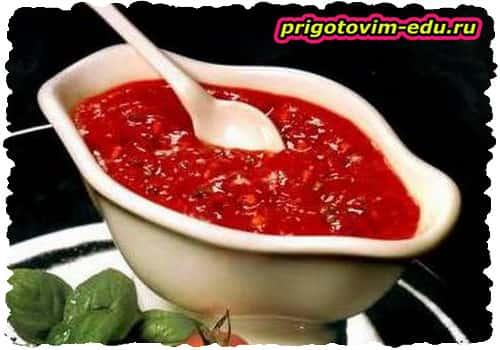 Рецепт соуса из крыжовника к мясу