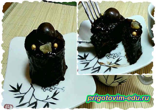 Шоколадные птифуры с виноградом