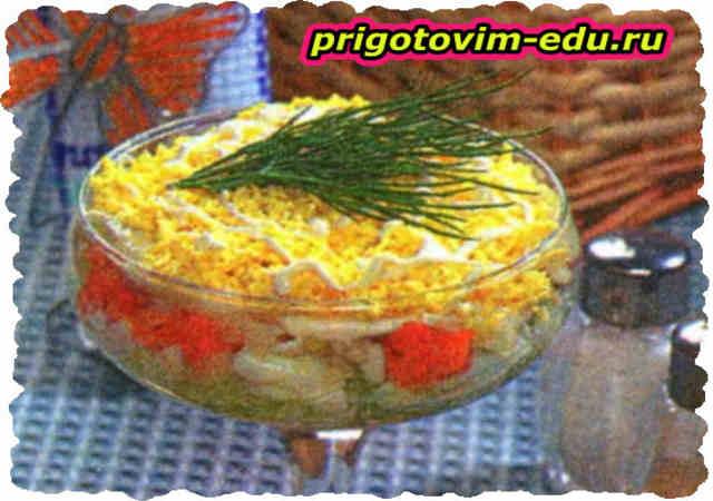 Салат с мясом и фруктами