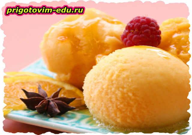 Сорбет из ананасов и мандаринов