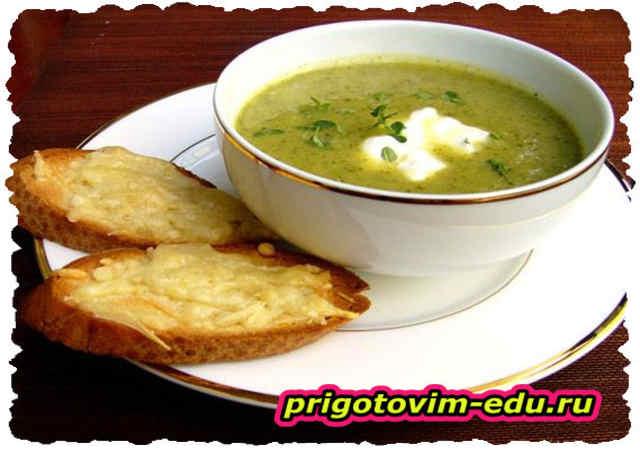 Суп-пюре из брокколи и риса