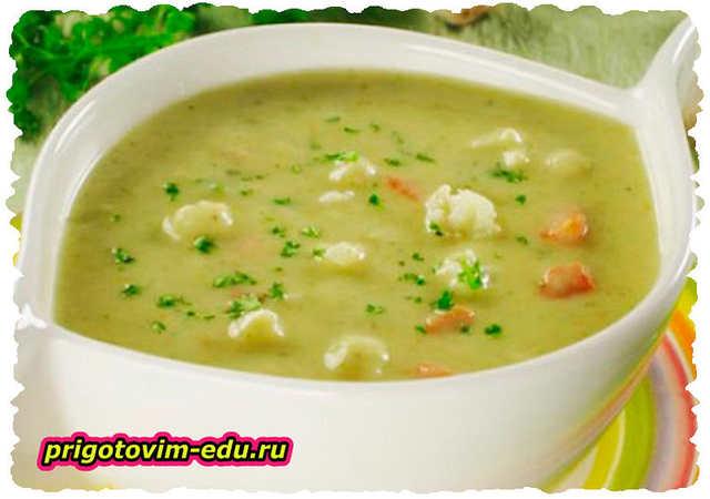Суп-пюре с сосисками