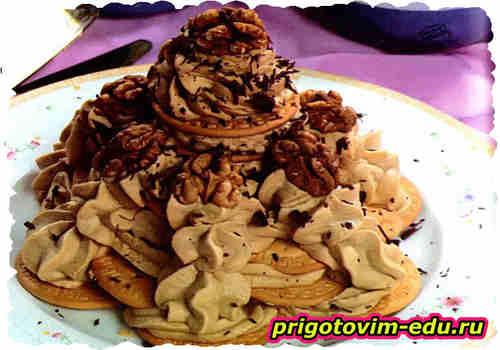 Торт из печенья «Башня»