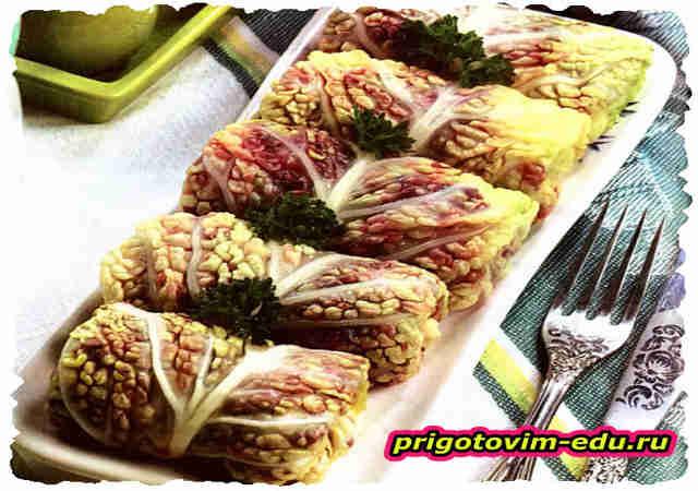 Закуска «Гнездо ласточки» из капусты