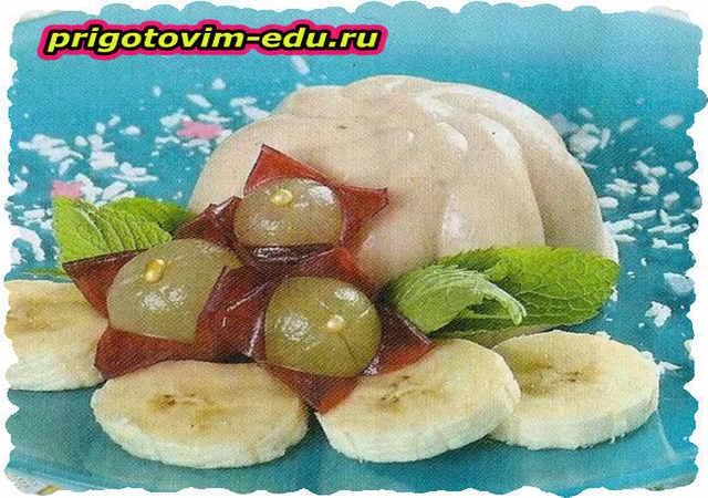 Банановое желе с топленым молоком