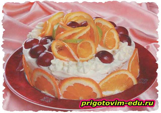 "Фруктовый торт ""Мандаринка"""