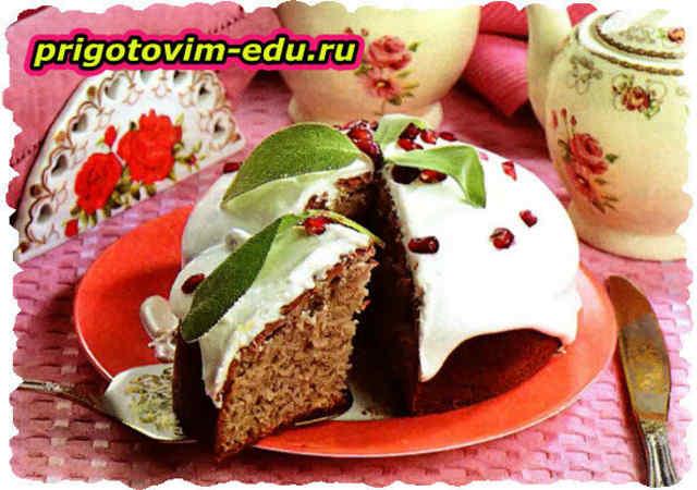 Гранатовый торт «Мазурка»