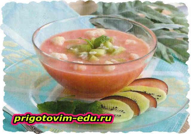 Молочно-рисовый суп с капустой