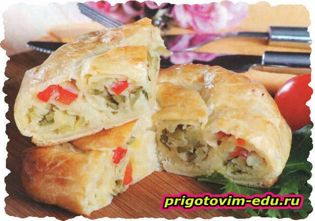 Пирог с картофелем на кефире