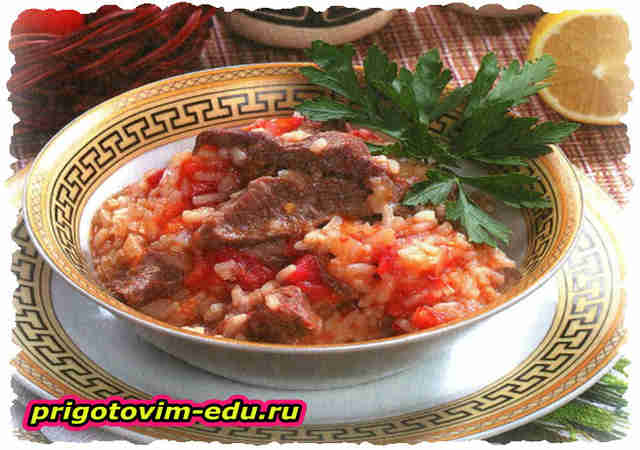 Рис с помидорами по-гречески