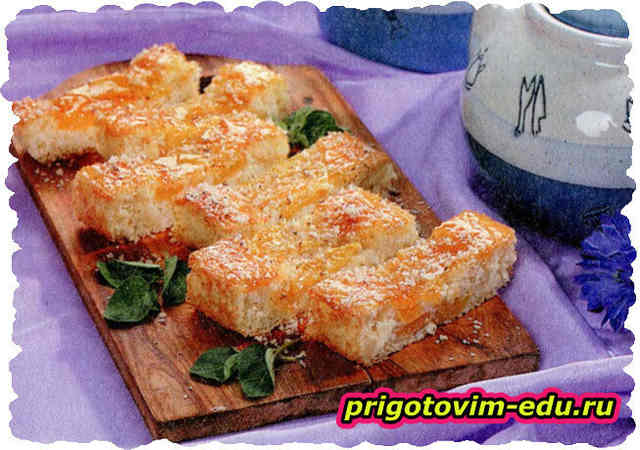 Рисовое печенье с персиками и орехами