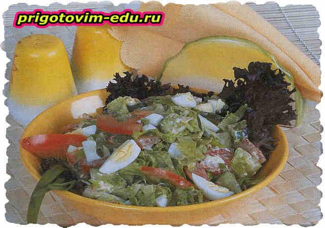 Салат Весенний с яйцами