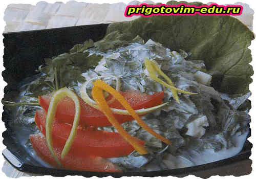 Салат «Витаминный» из зелени