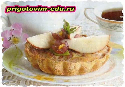 Сырный грушевый пирог