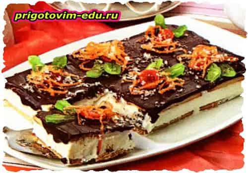 Торт из печенья «Наполеонка»