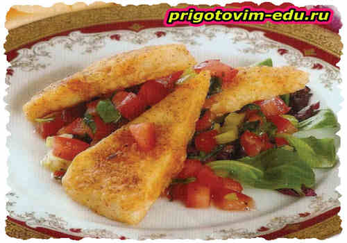 Закуска из адыгейского сыра с овощным салатом