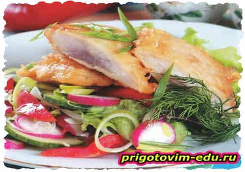 Маринованная рыба, жаренная в кляре